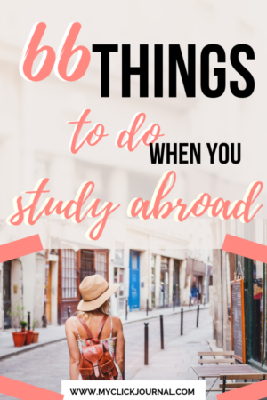 The ultimate Study Abroad Bucket list for exchange students with things to do when studying abroad #studyabroad #bucketlist
