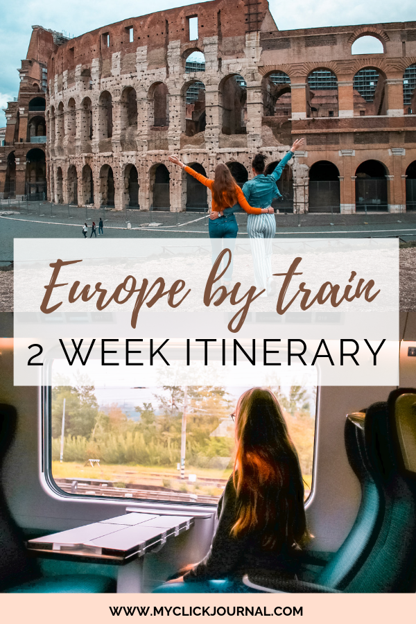 Europe by train travel guide- eurail pass travel guide and 2 week itinerary route #eurailguide #europebytrain #europetravel