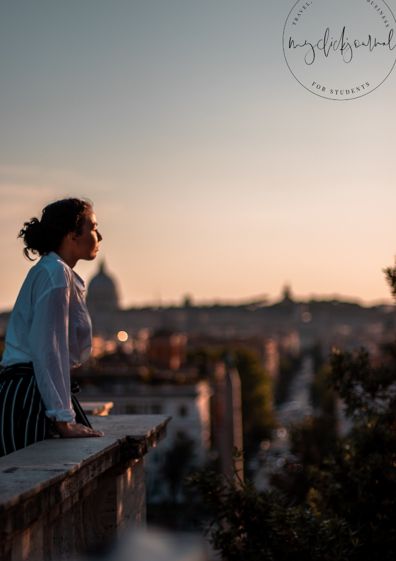 sunset above Rome