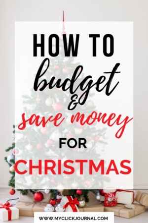 how to budget and save money for christmas