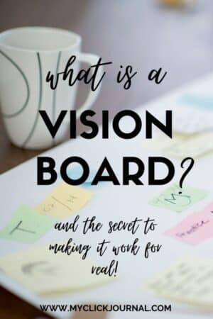 What is a vision board? and how to make a vision board! myclickjournal