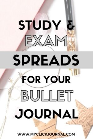 the best bullet journal exam spreads for college   myclickjournal